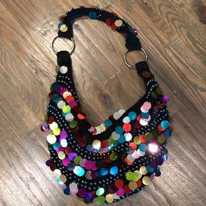 Handbags - Vintage large sequin bead purse perfect condition